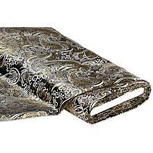 Tissu brocart, noir