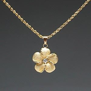 Hawaiian Jewelry Plumeria Flower   This NEVER leaves my neck...