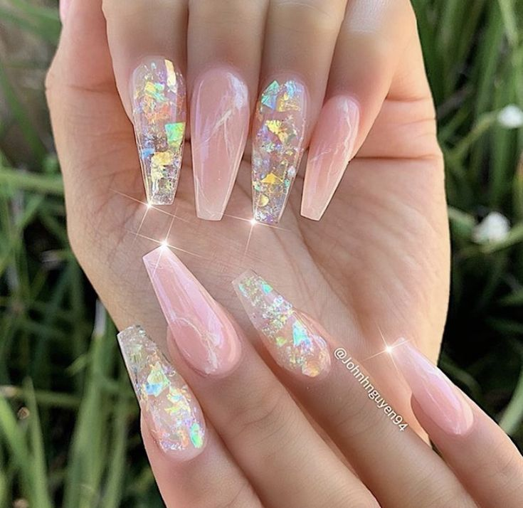 Clear and pink nails  – Nails – #Clear #Nails #pink