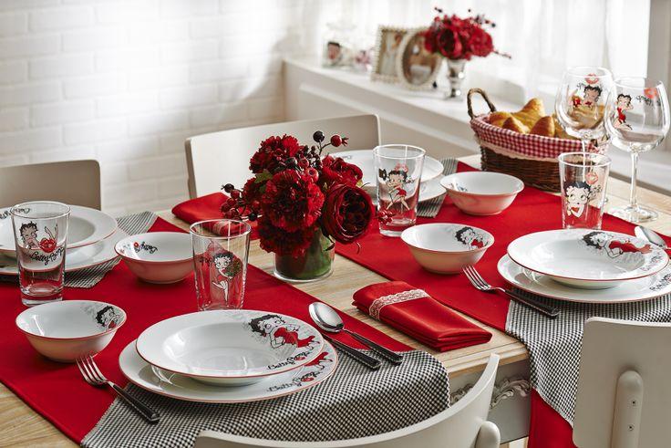 Betty Boop Yemek Takımı /  Dinnerware Set #bernardo #bettyboop #dinner #yemek