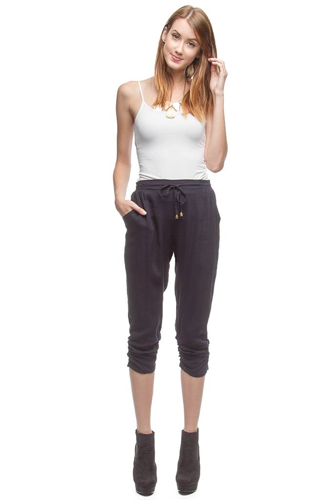 PANTS WITH FRONT TIE