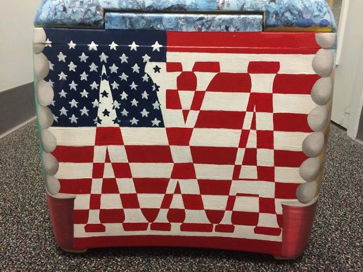 Lambda Chi American Flag Cooler | The Cooler Connection on Pinterest