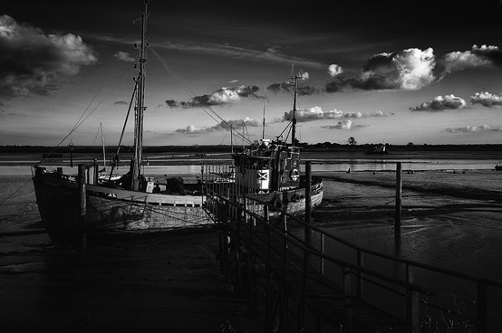 The vessel Ranger moored at Heybridge Basin, near Maldon, Essex.