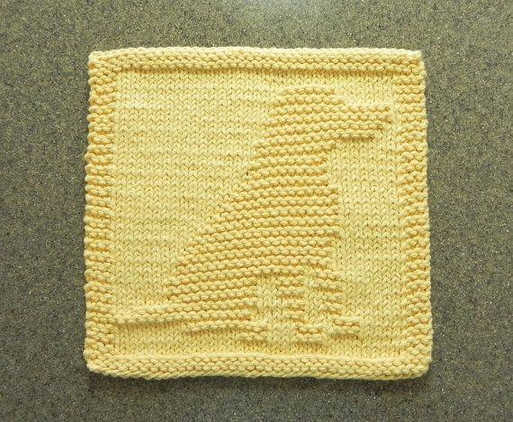 LABRADOR RETRIEVER Dog Knit Dishcloth  Hand by AuntSusansCloset