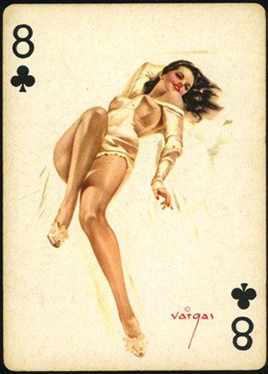 Nombre (Deck): Vargas Vanities. País (Country): USA. Fabricante (Made ): Stancraft Playing Cards. Artist Alberto Vargas (Date):1.953. BARAJA ORIGINAL. ORIGINAL CARDS
