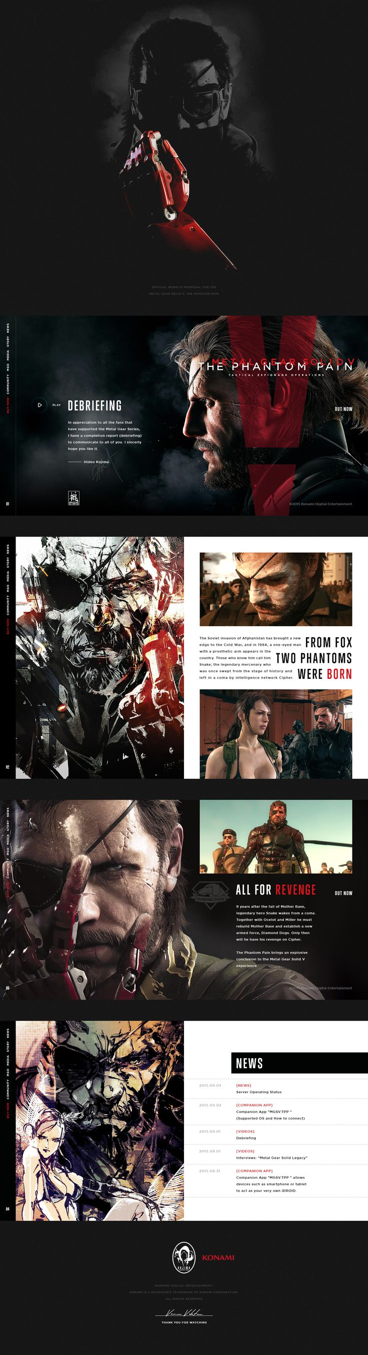 Metal gear solid v the phantom pain official website proposal hellowiktor