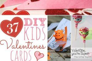 37 DIY Kids Valentine Cards