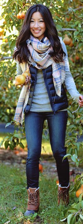 Plaid Wrap Around Scarf Fall Inspo by Extra Petite