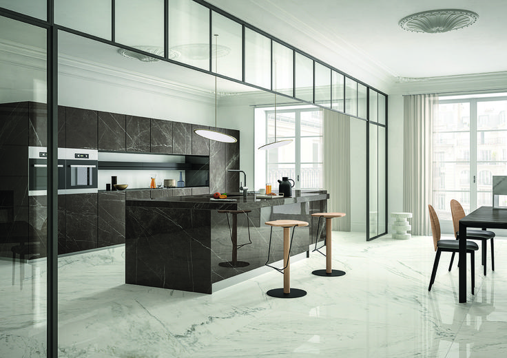 SapienStone is a revolution in porcelain slabs for kitchen and bathroom surfaces. With their unique technical properties and high quality finishing, these porcelain stoneware surfaces make a beautiful addition to any space.
