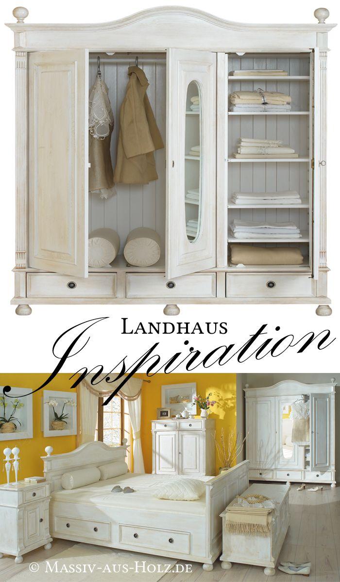 Der Landhaus Kleiderschrank 3 Turig Mit Spiegel Ist Ein Echtes