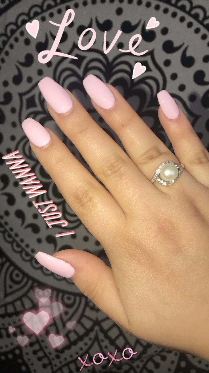 Pink Acrylic Coffin Nails Beautifulacrylicnails Coffin Nail
