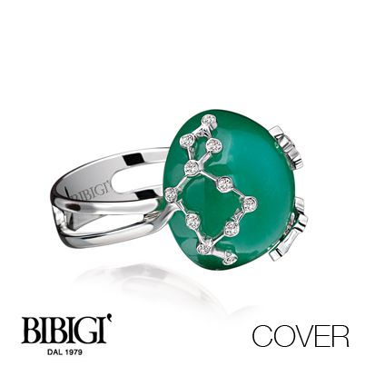 #Bibigi   Collezione #Cover   Anello in oro bianco, oro rosa, diamanti e pietre dure.