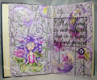 using 'What Matters' by Aurora of The East Wind available in both rubber and as a digi from Sweet Pea Stamps