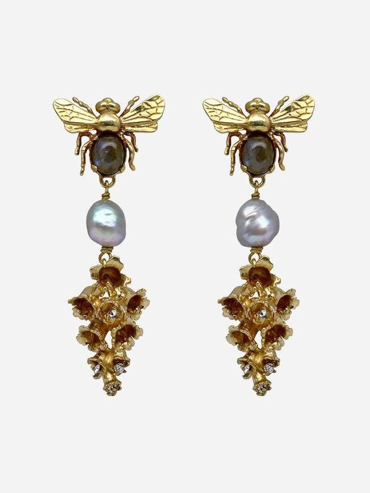 Bee and Bells Earrings Carolina Curado