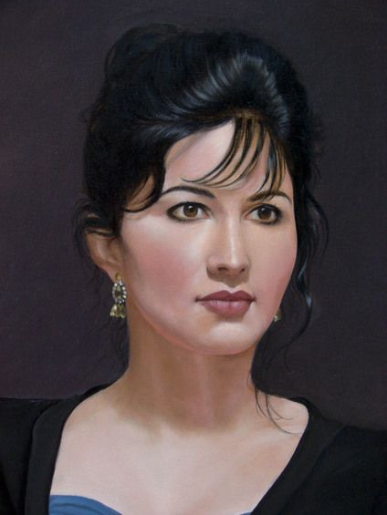 Tica. Oil on canvas. By Usha Patibandla
