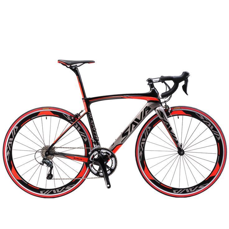 Sava 700c serat karbon jalan sepeda lengkap sepeda karbon bersepeda jalan sepeda bicicletta m3000 18 kecepatan shimano sora bicicleta