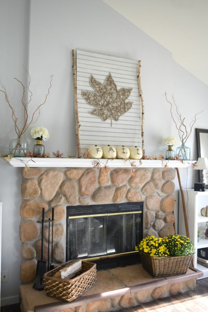 Fall Fireplace Mantel Decor Ideas. Amazing DIY And Rustic Fall Home Tour!  Fall Season