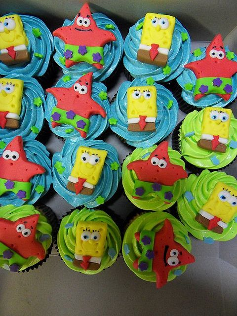 Spongebob #spongebob #cartoon #squarepants #cupcakes