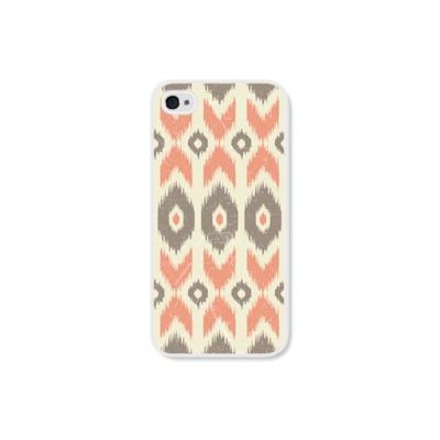 iPhone 4 Case - Peach Ikat