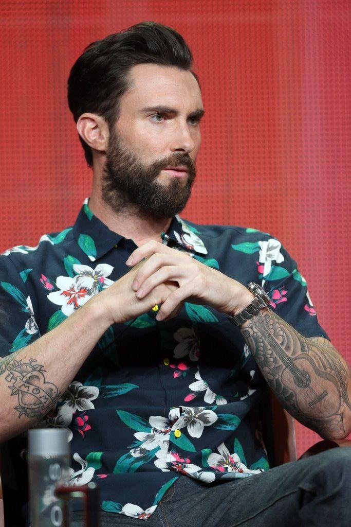 Adam Levine...beard. *drool*