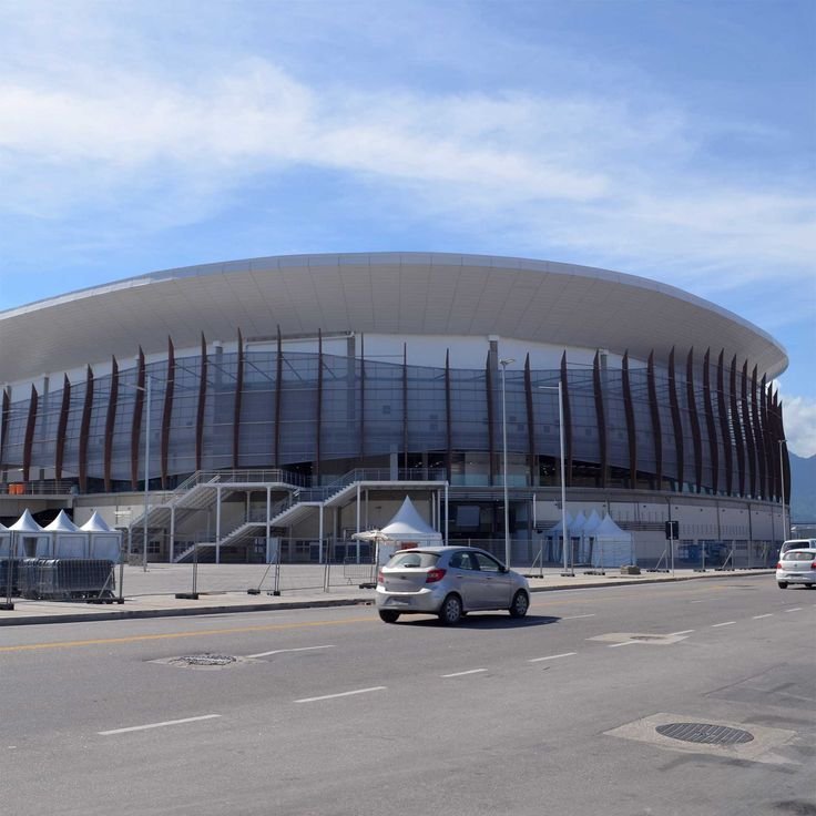 オリンピックパークの建物の中で、周りも合わせて完成度が高かったバスケットボール会場。
