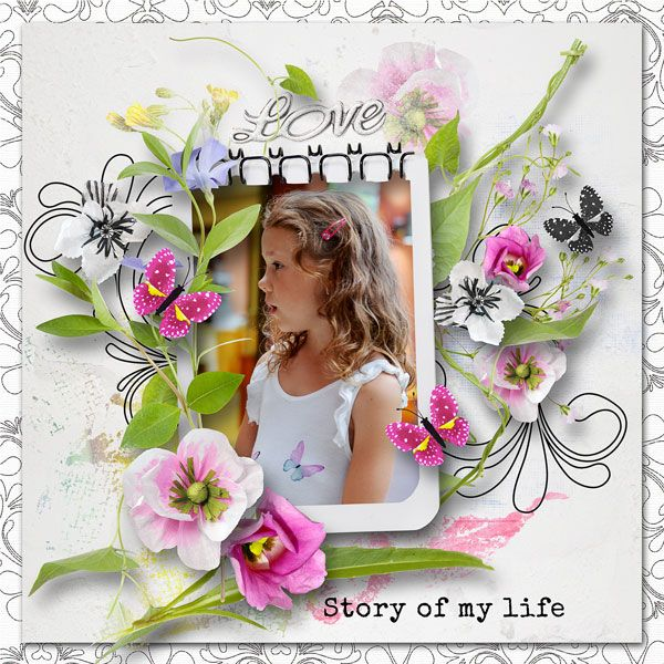 """Terezka v krásné novince """"Story Of My Life"""" Collection + FREE Gift by Palvinka save 50%   http://shop.scrapbookgraphics.com/story-of-my-life-collection.html"""