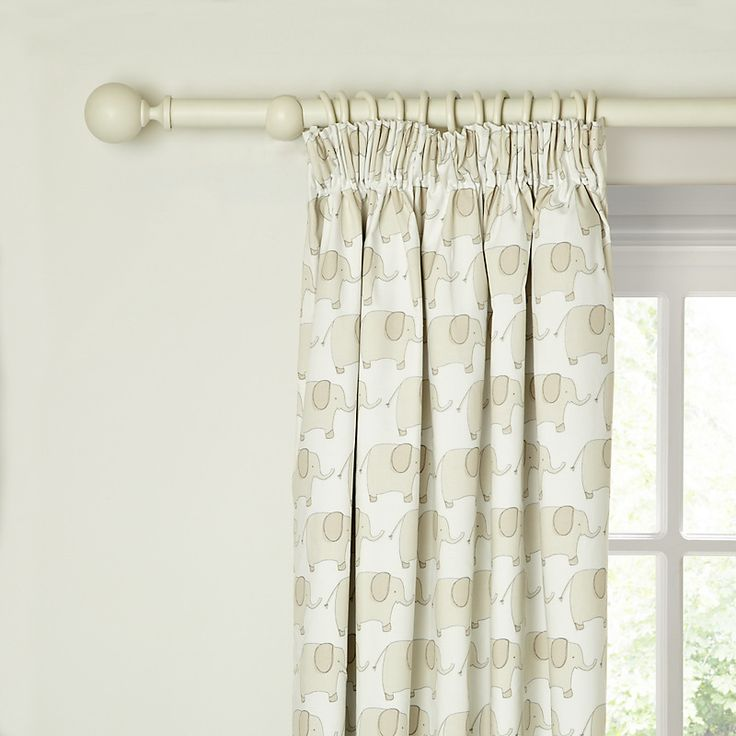 Elephant Pencil Pleat Blackout Lined Curtains