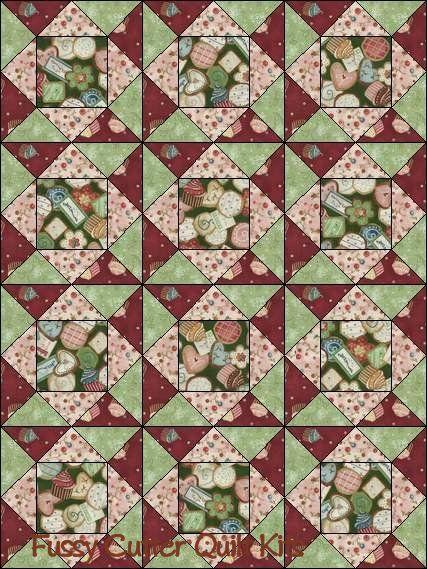 Fussy Cut Quilt Blocks Sweet Treats Fabric Easy Baby