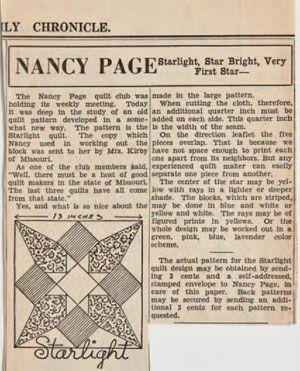 Nancy Page Starlight pattern