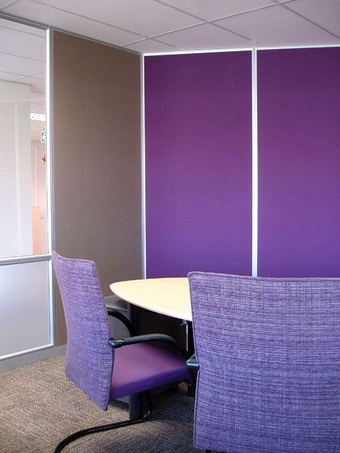 Cadbury - love the use of their corporate colours on their wall partitions