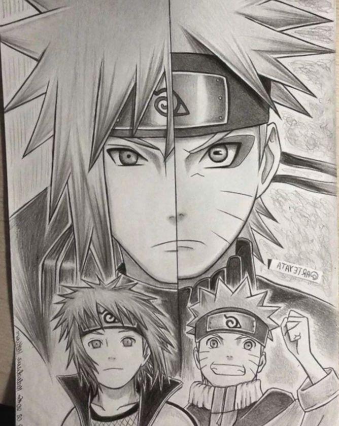 16 Anime Sketch Pencil Naruto Naruto Sketch Naruto Minato Naruto Drawings