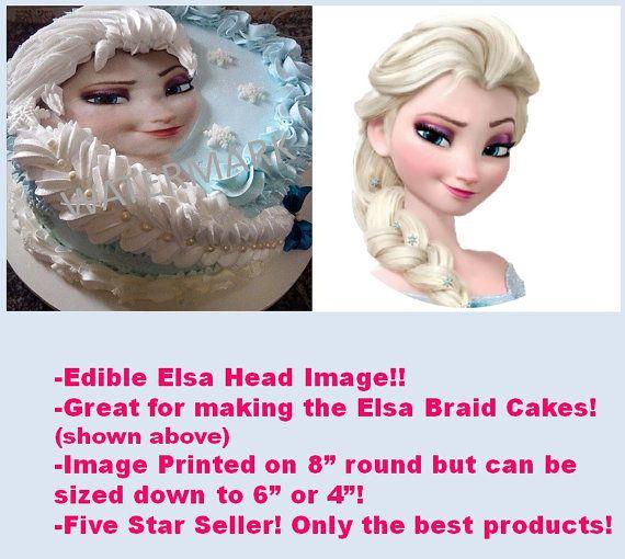 Frozen Elsa Head Edible Image Round Edible Frozen Image