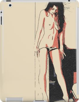 Something in there? Sexy brunette girl nude posing • Also buy this artwork on phone cases, apparel, stickers, and more.