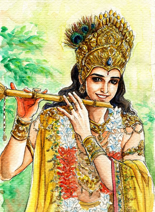 Fanart of Krishna,Mahabharat,by Snowcandy.CC:BY-NC-ND ...