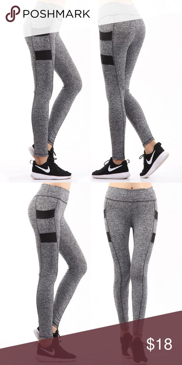 15% OFF BUNDLES Yoga pants with  Pockets This listing is for gray/pink. Yoga pants with two side pockets for phones, keys, etc. Also available in hot pink/gray and lime/gray. If your size is listed and not marked out, then it is available. Pants Track Pants & Joggers