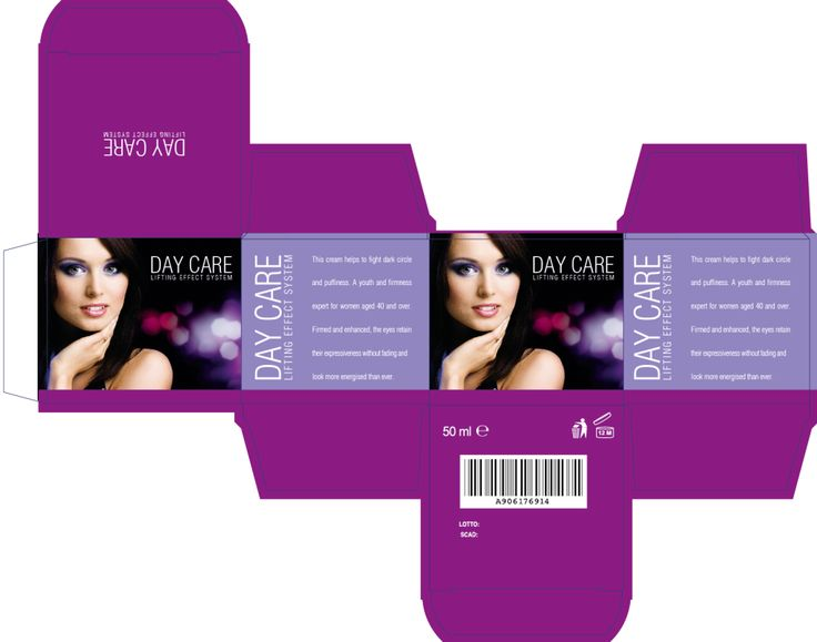 Cosmetic packaging - #diecut #template with custom sizes