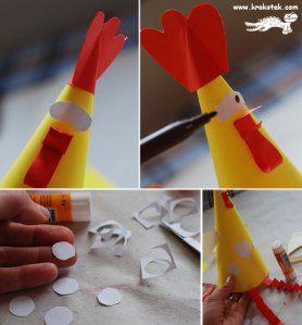 """È possibile utilizzare questi tre galline divertenti per giocare a """"indovina chi ha fatto l'uovo""""(Nascondi un uovo sotto una delle galline, poi lascia che il bambino indovini dove…"""