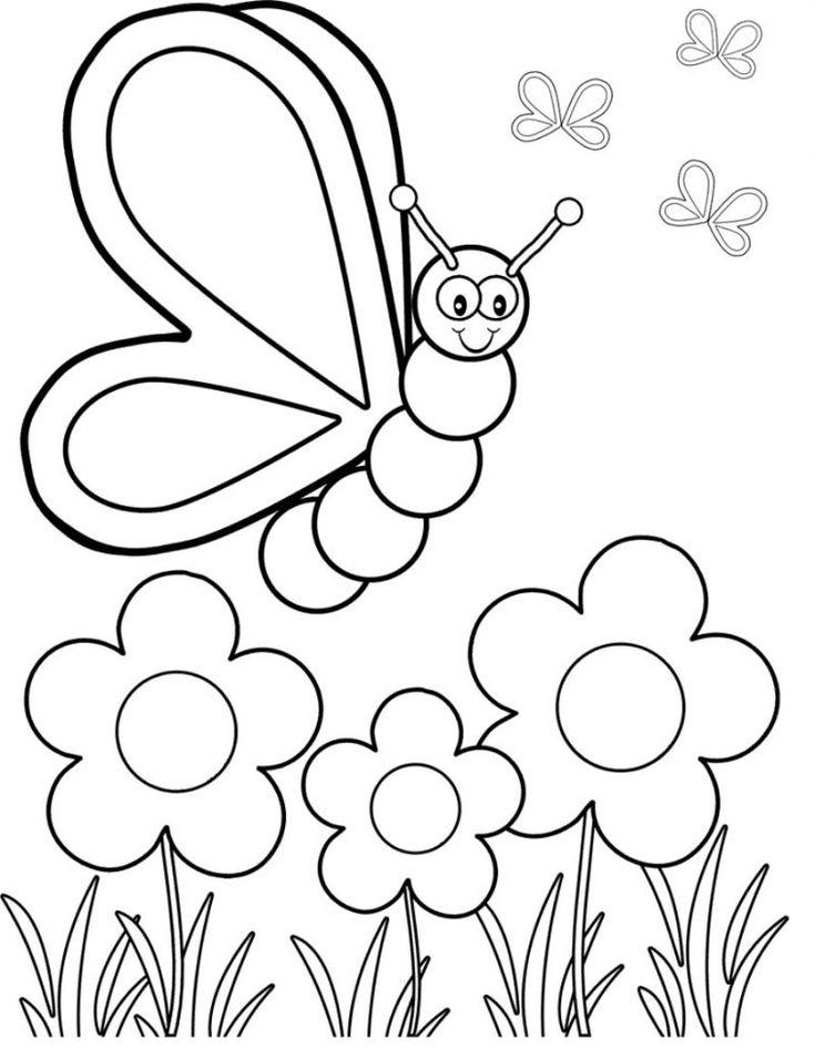 Dibujos de mariposas de colores | ho | Pinterest | Coloring pages ...