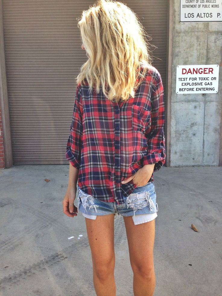 I need a larger flannel shirt to wear cut-offs, leggings, jeans, etc.