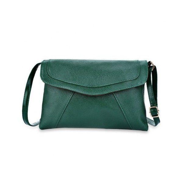 Patchwork Magnet Button Shoulder Messenger Envelope Bag for Lady (€6,88) ❤ liked on Polyvore featuring bags, handbags, shoulder bags, green shoulder bag, green handbags, messenger purse, messenger handbags and green purse