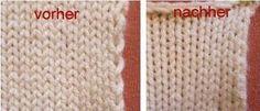 Die verflixte zweite Masche – ein Tipp für gleichmäßigere Ränder von tichiro