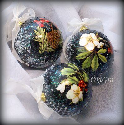 #OxiGra #decoupage #christmas