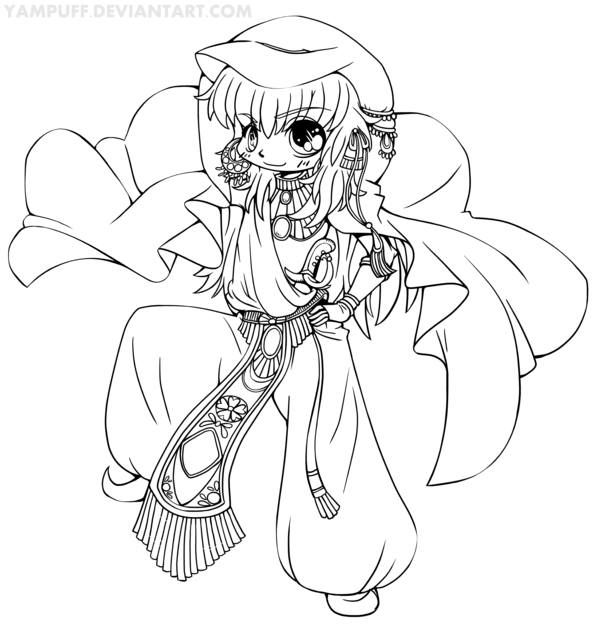 chezem chibi commission lineart by yampuff - Black Butler Chibi Coloring Pages