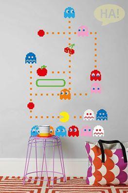 Παιχνίδια στους τοίχους!  Αυτοκόλλητα Τοίχου: http://www.houseart.gr/autokollita-toichou/1  #houseart #play #pacman #sticker #wallart #colors #fun #decoration