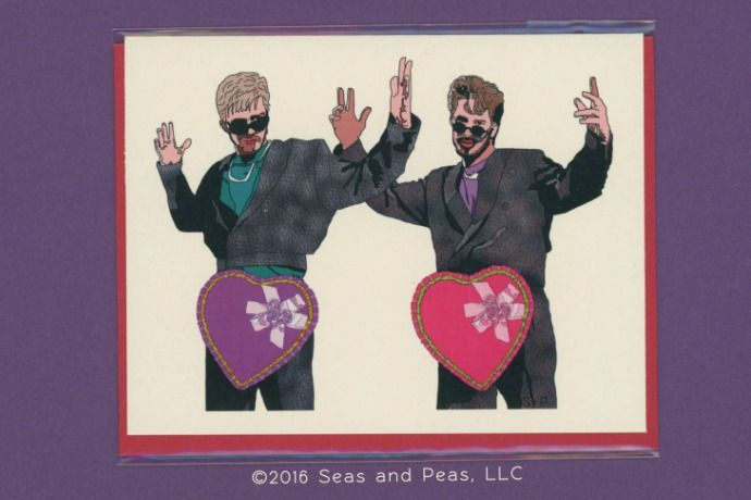 31 of the funniest Valentine's Cards: Seas and Peas' D*ck In a Box SNL card