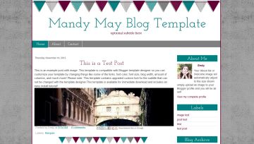 Teal Blogger Template
