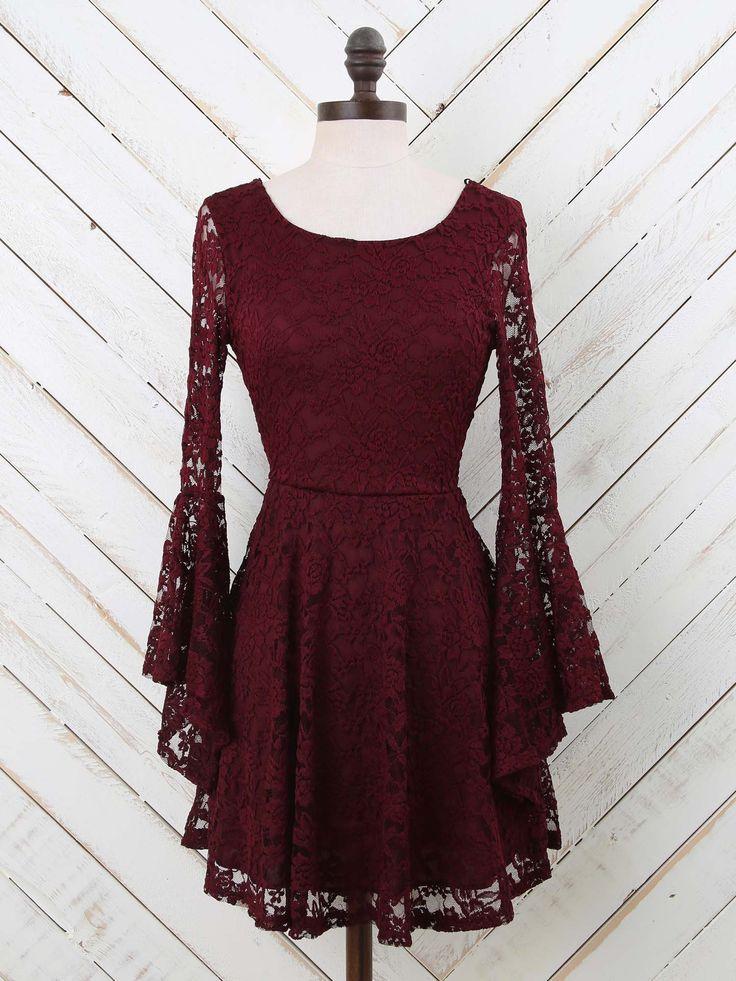 Altar'd State Lovely Back Lace Dress