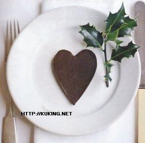 Шоколадно-марципановые сердечки