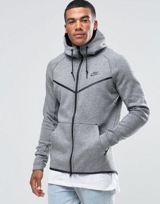 Cortavientos gris en tejido técnico de polar 805144-091 de Nike
