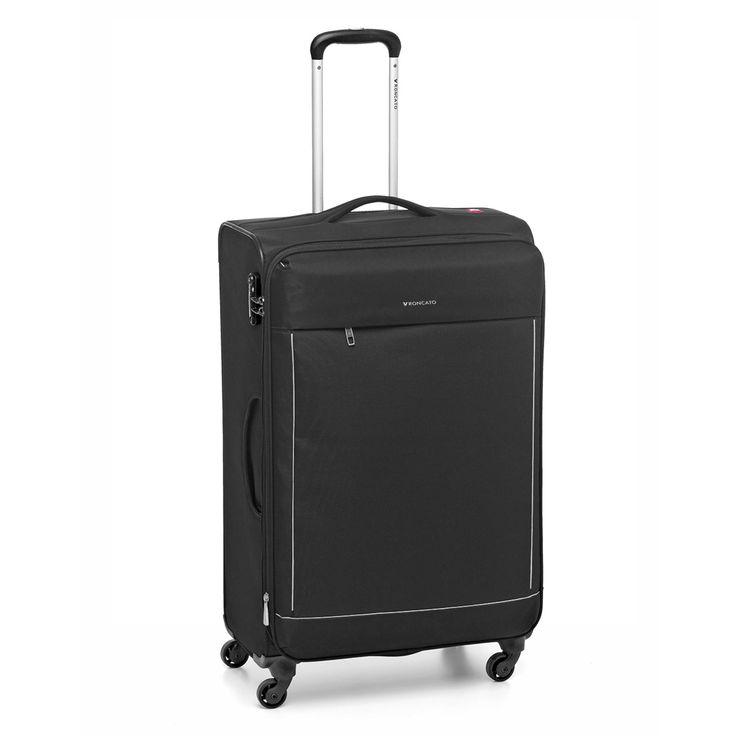 Großer #Koffer Roncato Connection bei Koffermarkt: ✓leichtes Weichgepäck ✓4 Rollen ✓erweiterbares Volumen ✓schwarz ⇒Jetzt kaufen